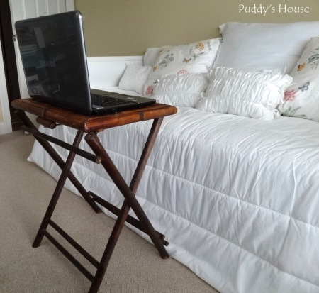 Thrift Shopping - Bambo tray Table - use for laptop