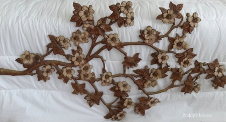 Thrift Shopping - branch flower wall art