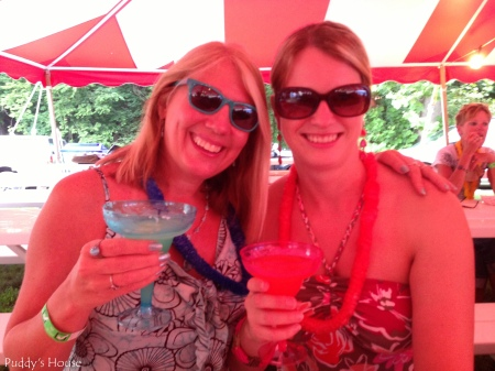 weekend fun - leslie and debbie - parrot fest